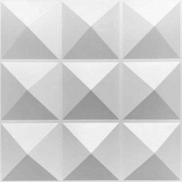 Nine pyramid per tile designer 3d pvc wall panels. Each tile has 9 pyramids