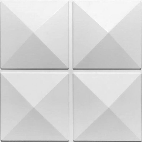 Four pyramidal 3d wall panel design for contemporary offices ro homes