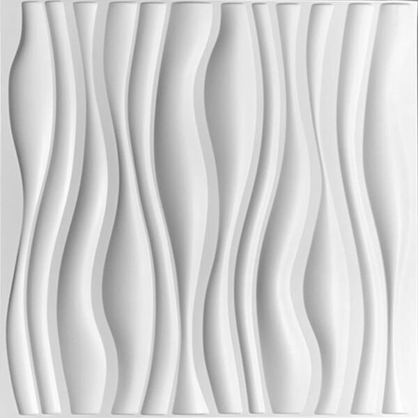horizontal or verticle wavy designer wall panels for modern office or home. 3D wall tiels are paintable and waterproof.