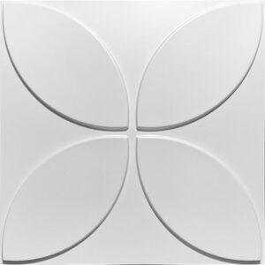 clean floran designer wall panels in pvc white. 3d wall tiles as a wallpaper alternative.