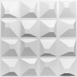 16 3d square style PVC wall panels for indoor use.